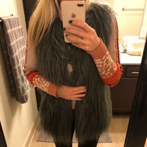 Hawk and Co faux fur vest. Like new!